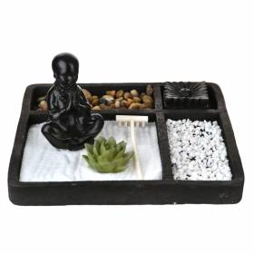 ZEN SAND TRAY Square Cement Black 27x11.5cm
