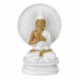 STATUE Buddha Sitting On Stand Natural/White 17x12cm