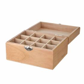 STORAGE BOX Wooden 12 Compartment