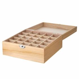 STORAGE BOX Wooden 25 Compartment