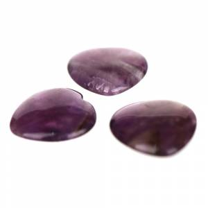 HEART STONE Amethyst 25mm