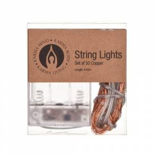 STRING LIGHTS Copper 50piece