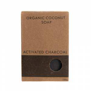 Activated Charcoal Coconut Soap boxed 100g