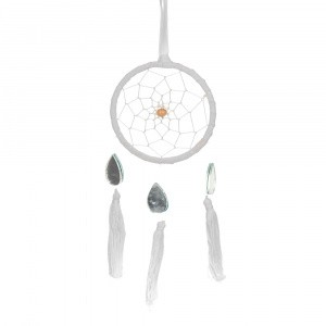 DREAM CATCHER Mini White with Teardrop Mirror