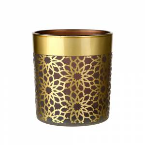 TEALIGHT HOLDER Geometric Pink/Gold 8cm