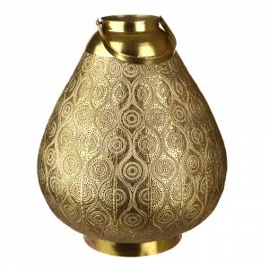 LANTERN Metal Paisley Antique Gold 48x40.5cm