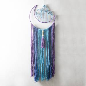 DREAMCATCHER Hanging Cresent Moon Crystal With Tassels 25x90cm